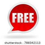 free badge 3d illustration...   Shutterstock . vector #788342113
