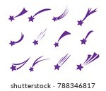 shooting stars icons. vector... | Shutterstock .eps vector #788346817
