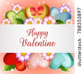 valentine card with blossom... | Shutterstock .eps vector #788353897