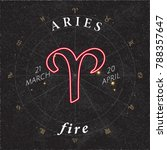 Zodiac Sign Aries Inverted Log...