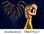 couple beauty portrait over... | Shutterstock . vector #788374117