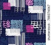 memphis seamless  pattern in...   Shutterstock .eps vector #788376067
