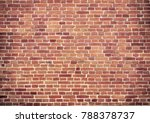 old red brick wall texture... | Shutterstock . vector #788378737