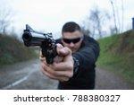 handsome dangerous man with a...   Shutterstock . vector #788380327