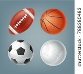 set of vector realistic sports... | Shutterstock .eps vector #788380483