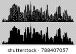 the silhouette of the city in a ... | Shutterstock .eps vector #788407057
