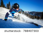 action camera skier skiing... | Shutterstock . vector #788407303