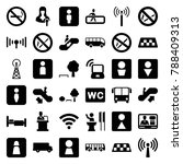 public icons. set of 36... | Shutterstock .eps vector #788409313