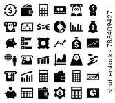 economy icons. set of 36... | Shutterstock .eps vector #788409427