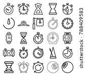 Timer Icons. Set Of 25 Editabl...
