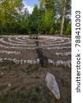 Small photo of This Labyrinth invites one to walk the grid in quite solitude and contemple the day, and resist the urge to skip a stone and speed up the process! Ellison Bay, Door County, Wisconsin