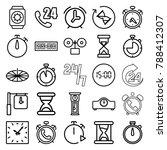 hour icons. set of 25 editable...   Shutterstock .eps vector #788412307