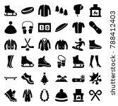 winter icons. set of 36... | Shutterstock .eps vector #788412403