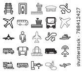 passenger icons. set of 25...   Shutterstock .eps vector #788412427