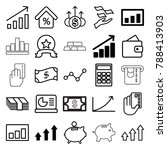 financial icons. set of 25... | Shutterstock .eps vector #788413903