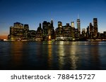 night skyline of new york city. ... | Shutterstock . vector #788415727