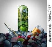 alternative medicine supplement ... | Shutterstock . vector #788417497
