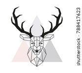 vector geometric deer head.... | Shutterstock .eps vector #788417623