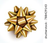 realistic golden gift bow... | Shutterstock .eps vector #788429143