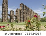 roman aqueduct of the miracles...   Shutterstock . vector #788434087