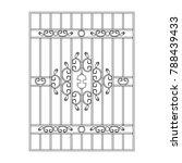 lattice window frame icon.... | Shutterstock .eps vector #788439433