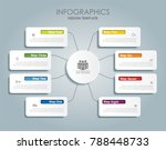 infographic template. vector... | Shutterstock .eps vector #788448733