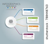 infographic template. vector... | Shutterstock .eps vector #788448763