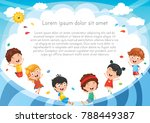 kids playing outside | Shutterstock .eps vector #788449387