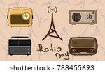 Isolated Old Radios With Radio...