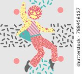 a man dance in unique...   Shutterstock .eps vector #788456137