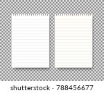 two notepad vector template... | Shutterstock .eps vector #788456677