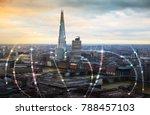 shard of glass. city of london... | Shutterstock . vector #788457103