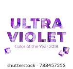 ultraviolet amethyst gemstones... | Shutterstock .eps vector #788457253
