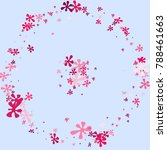 pink blots on a blue background.... | Shutterstock .eps vector #788461663