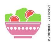 salad bowl on white background  ... | Shutterstock .eps vector #788464807