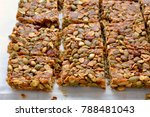 homemade granola squares with... | Shutterstock . vector #788481043