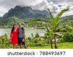 bora bora luxury cruise travel... | Shutterstock . vector #788493697