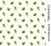 avocado seamless pattern for... | Shutterstock .eps vector #788494813