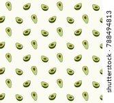 Avocado Seamless Pattern For...