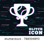 glitch effect. tennis ball sign ... | Shutterstock .eps vector #788504893