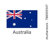 flag of australia with name... | Shutterstock .eps vector #788505547