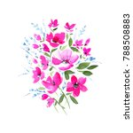 a gentle watercolor bouquet. a... | Shutterstock . vector #788508883