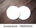 blank white paper on wooden... | Shutterstock . vector #788509243