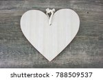 rustic wooden blank heart sign... | Shutterstock . vector #788509537