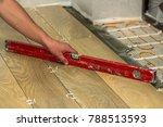 installation of ceramic tiles... | Shutterstock . vector #788513593