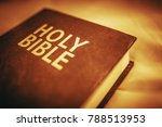 holy bible closeup. sepia color ... | Shutterstock . vector #788513953