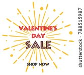 valentine's day sale vector... | Shutterstock .eps vector #788515987