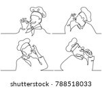 set. continuous line drawing.... | Shutterstock .eps vector #788518033