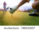 hand on glove of golf player... | Shutterstock . vector #788520007