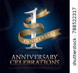 1st year anniversary... | Shutterstock .eps vector #788522317
